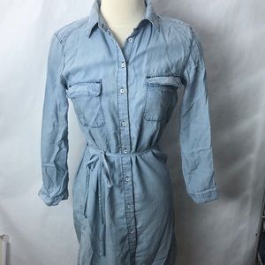 C&C California chambray shirt dress blue XS